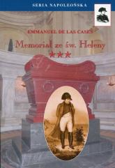 Memoriał ze Św. Heleny Tom 3 - de Las Cases Emmanuel | mała okładka