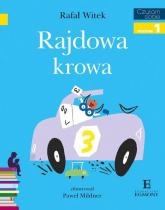 Czytam sobie Rajdowa krowa Poziom 1 - Rafał Witek | mała okładka