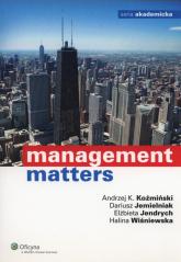 Management Matters - Jemielniak Dariusz, Jendrych Elżbieta, Koźmiński Andrzej K., Wiśniewska Halina   mała okładka