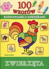100 wzorów Zwierzęta Kolorowanki z naklejkami -  | mała okładka