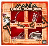 Łamigłowki metalowe 4 sztuki Puzzle-mania zestaw czerwony -  | mała okładka