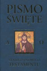 Pismo Święte Starego i Nowego w Testamentu granat - Kazimierz Romaniuk   mała okładka