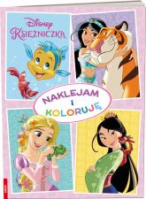 Disney Księżniczka Naklejam i koloruję -  | mała okładka