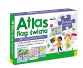 Flagi Świata Plakat z mapą +Puzzle -  | mała okładka