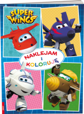 Super Wings Naklejam i koloruję -  | mała okładka