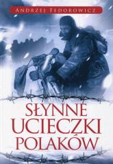 Słynne ucieczki Polaków - Andrzej Fedorowicz | mała okładka