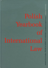 Polish Yearbook of International Law -  | mała okładka