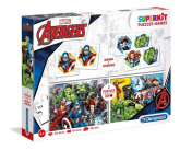 Superkit Avengers 4 w 1 Puzzle 2x30 +Memo +Domino -  | mała okładka