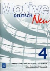 Motive Deutsch Neu 4 Zeszyt ćwiczeń Zakres podstawowy i rozszerzony Kurs dla kontynuujących naukę. Liceum Technikum - Jarząbek Alina Dorota, Koper Danuta | mała okładka