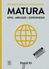 Matura Geografia Poziom rozszerzony Opis Arkusze Odpowiedzi - Srokosz Wiesław, Zieliński Krzysztof | mała okładka