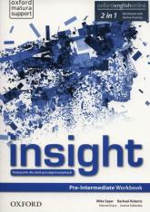 Insight Pre-Intermediate Workbook + Online practice Szkoły ponadgimnazjalne - Sayer Mike, Roberts Rachel | mała okładka