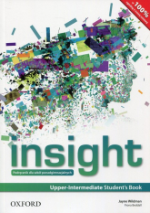 Insight Upper Intermadiate Student's Book Podręcznik wieloletni Szkoła ponadgimnazjalna - Jayne Wildman   mała okładka