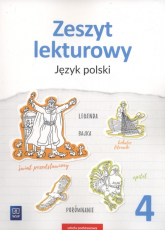 Zeszyt lekturowy 4 Język polski Szkoła podstawowa - Surdej Beata, Surdej Andrzej | mała okładka