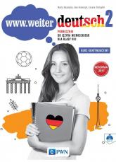 www.weiter.deutsch 2 Podręcznik do języka niemieckiego dla klasy 8 + CD Szkoła podstawowa - Kozubska Marta, Krawczyk Ewa, Zastąpiło Lucyna   mała okładka