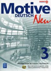 Motive Deutsch Neu 3 Podręcznik z płytą CD Zakres postawowy i rozszerzony Kurs dla kontynuujących naukę - Jarząbek Alina Dorota, Koper Danuta   mała okładka