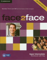 face2face Upper Intermediate Workbook with Key - Tims Nicholas, Bell Jan | mała okładka