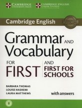 Grammar and Vocabulary for First and First for Schools with answers - Thomas Barbara, Hashemi Louise, Matthews Laura | mała okładka