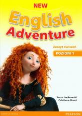 New English Adventure 1 Zeszyt ćwiczeń z płytą DVD - Lochowski Tessa, Bruni Cristiana   mała okładka
