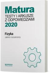 Fizyka Matura 2020 Testy i arkusze z odpowiedziami Zakres rozszerzony Szkoła ponadgimnazjalna - Ewa Przysiecka | mała okładka