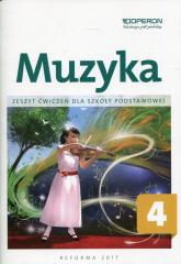 Muzyka 4 Zeszyt ćwiczeń Szkoła podstawowa - Justyna Górska-Guzik   mała okładka