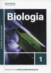 Biologia 1 Podręcznik Zakres rozszerzony Szkoła ponadpodstawowa - Jakubik Beata, Szymańska Renata   mała okładka