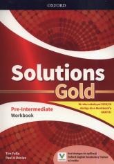 Solutions Gold Pre-Intermediate Workbook Szkoła ponadpodstawowa i ponadgimnazjalna - Falla Tim, Davies Paul A. | mała okładka