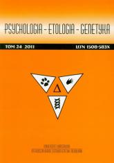 Psychologia Etologia Genetyka Tom 24/2011 -  | mała okładka