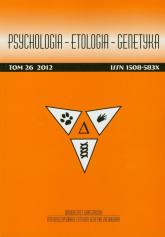Psychologia Etologia Genetyka Tom 26/2012 -  | mała okładka