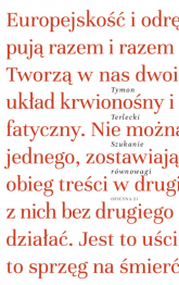 Szukanie równowagi Szkice literackie i publicystyczne - Tymon Terlecki   mała okładka