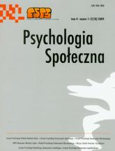Psychologia społeczna  1-2 2009 Tom 4 -    mała okładka