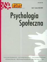 Psychologia społeczna Tom 2 numer 2 (4) / 2007 -  | mała okładka