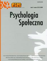 Psychologia społeczna  3/2009 Tom 4 -  | mała okładka