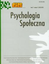 Psychologia społeczna Tom 7/2012 -  | mała okładka