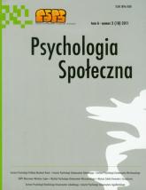 Psychologia społeczna Tom 6 3 (18) 2011 -  | mała okładka