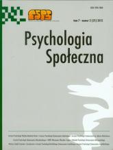 Psychologia Społeczna Tom 7 nr 2 (21) 2012 -  | mała okładka