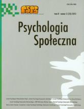 Psychologia społeczna Tom 8 nr 2 2013 -  | mała okładka