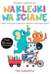 Koloruj i przyklejaj Naklejki na ścianę Małe zwierzątka -  | mała okładka