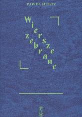 Wiersze zebrane - Paweł Hertz   mała okładka