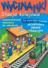 Wycinanki Stacja kolejowa - Małgorzata Potocka | mała okładka