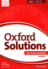 Oxford Solutions Pre Intermediate Workbook + Online Practice - Falla Tim, Davies Paul A., Sobierska Joanna | mała okładka