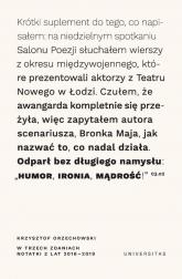 W trzech zdaniach Notatki z lat 2018/2019 - Krzysztof Orzechowski | mała okładka