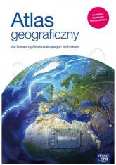 Atlas geograficzny dla liceum i technikum Szkoła ponadpodstawowa -  | mała okładka