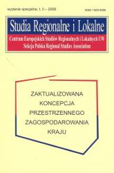 Studia Regionalne i Lokalne. Zaktualizowana koncepcja przestrzennego zagospodarowania kraju -  | mała okładka