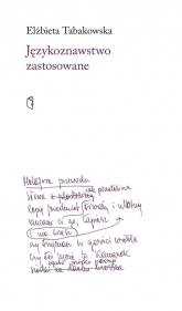 Językoznawstwo zastosowane - Elżbieta Tabakowska | mała okładka