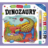 Mały artysta koloruje dinozaury + kredka segmentowa - Sylwia Kajdana | mała okładka