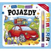 Mały artysta koloruje pojazdy + kredka segmentowa - Sylwia Kajdana | mała okładka