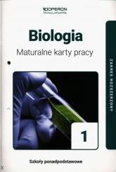 Biologia 1 Maturalne karty pracy Zakres rozszerzony Szkoła ponadpodstawowa - Dawid Kaczmarek   mała okładka