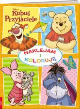 Kubuś i przyjaciele Naklejam i koloruję -  | mała okładka