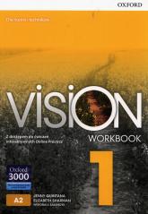 Vision 1 Zeszyt ćwiczeń z dostępem do ćwiczeń interaktywnych Online Practice - Quintana Jenny, Sharman Elizabeth, Sałandyk Weronika | mała okładka