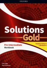 Solutions Gold Pre-Intermediate Workbook z kodem dostępu do wersji cyfrowej e-Workbook - Falla Tim, Davies Paul A. | mała okładka